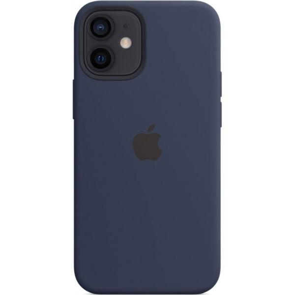 Чехол Silicone Case magsafe качество Lux для iPhone 12 mini темно-синий