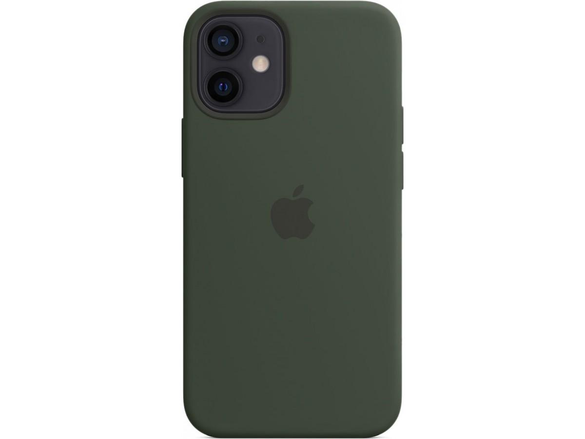 Чехол Silicone Case magsafe качество Lux для iPhone 12 mini темно-зеленый в Тюмени
