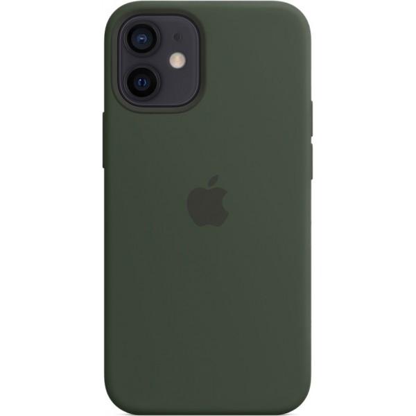 Чехол Silicone Case magsafe качество Lux для iPhone 12 mini темно-зеленый