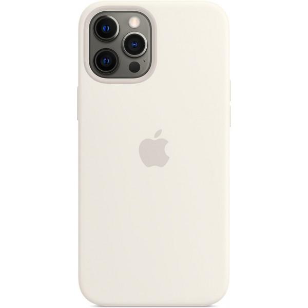 Чехол Silicone Case magsafe качество Lux для iPhone 12 Pro Max белый