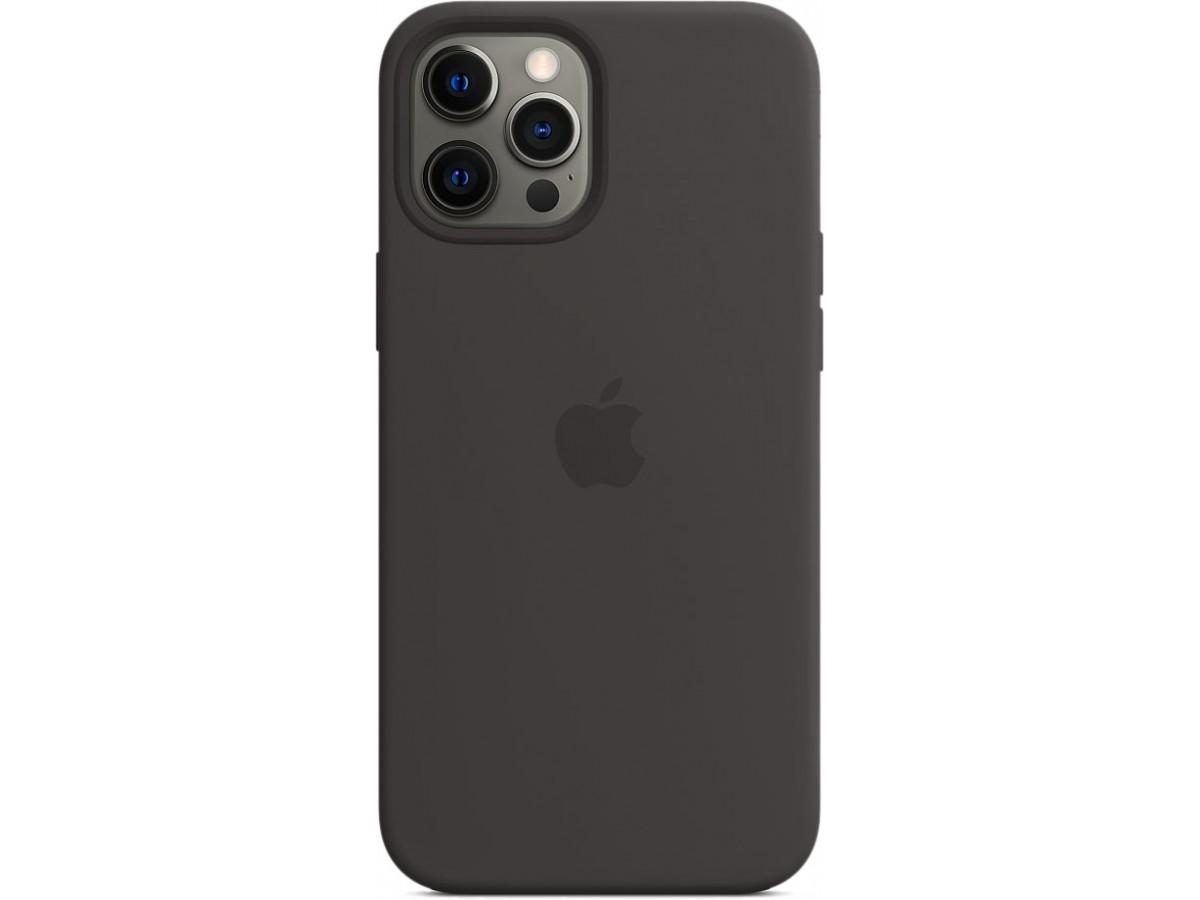 Чехол Silicone Case magsafe качество Lux для iPhone 12 Pro Max черный в Тюмени