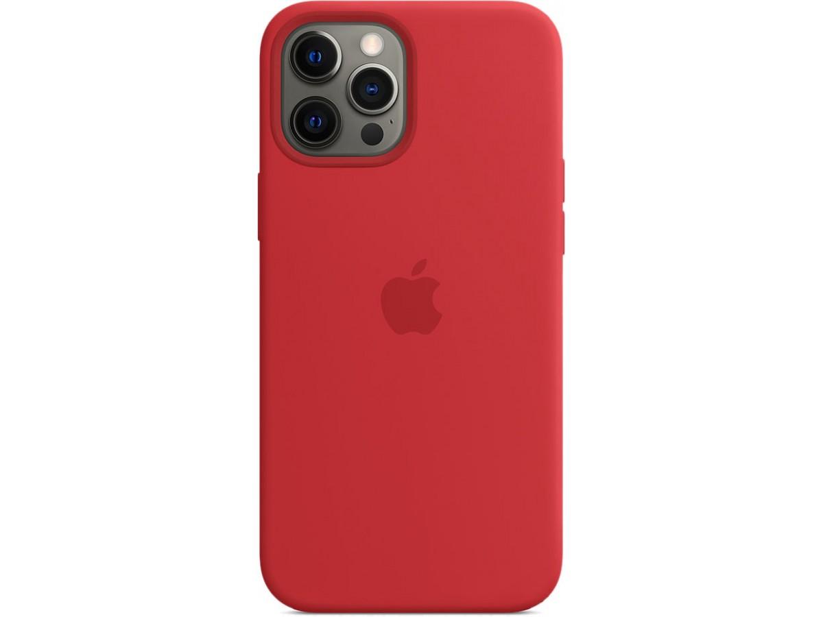 Чехол Silicone Case magsafe качество Lux для iPhone 12 Pro Max красный в Тюмени