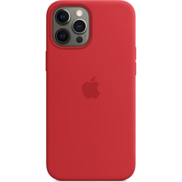 Чехол Silicone Case magsafe качество Lux для iPhone 12 Pro Max красный