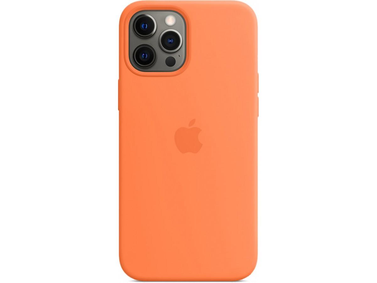 Чехол Silicone Case magsafe качество Lux для iPhone 12 Pro Max оранжевый в Тюмени