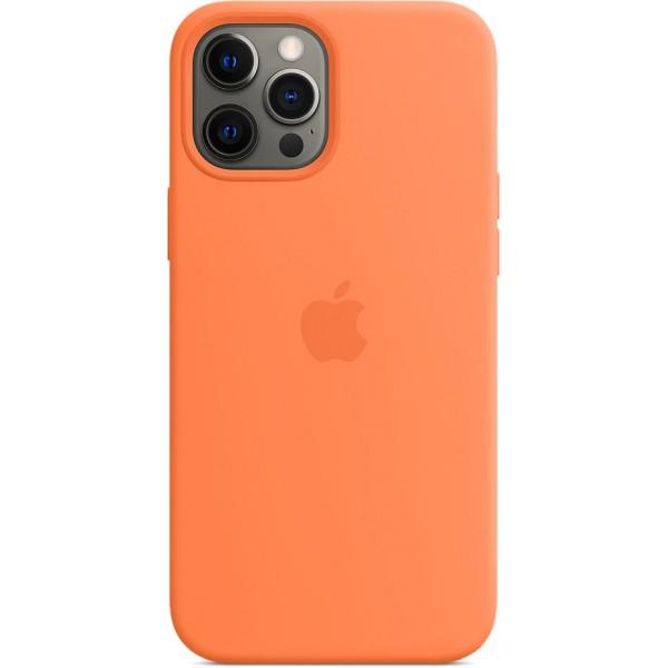 Чехол Silicone Case magsafe качество Lux для iPhone 12 Pro Max оранжевый