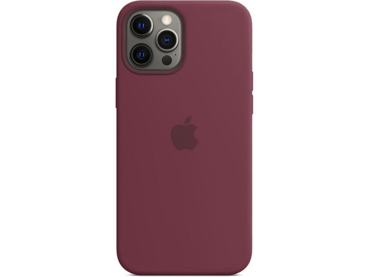 Чехол Silicone Case magsafe качество Lux для iPhone 12 Pro Max сливовый в Тюмени