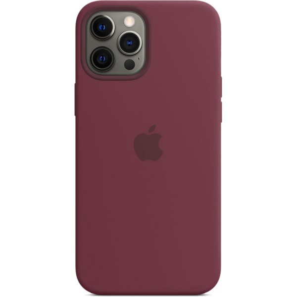 Чехол Silicone Case magsafe качество Lux для iPhone 12 Pro Max сливовый