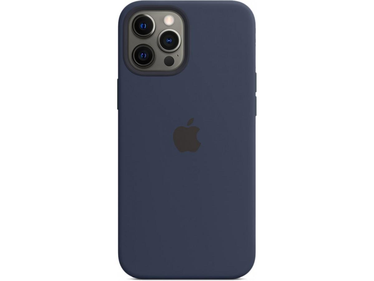Чехол Silicone Case magsafe качество Lux для iPhone 12 Pro Max темно-синий в Тюмени