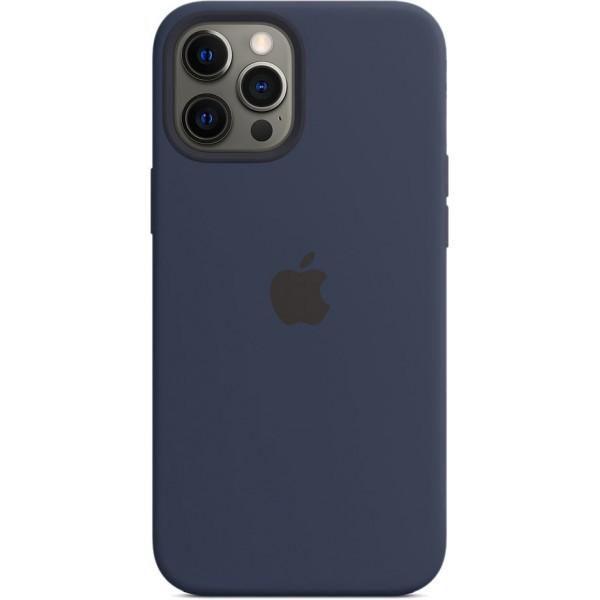 Чехол Silicone Case magsafe качество Lux для iPhone 12 Pro Max темно-синий