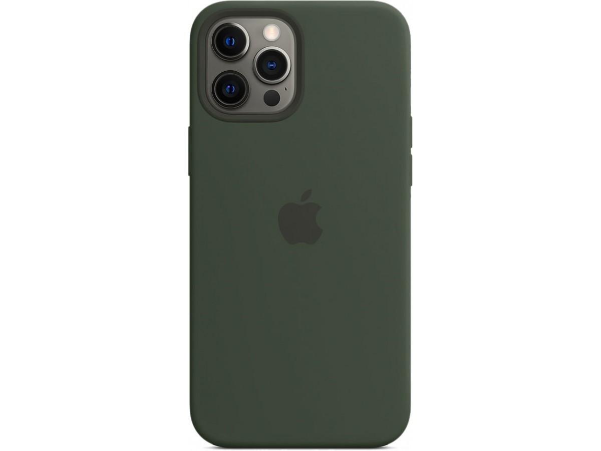 Чехол Silicone Case magsafe качество Lux для iPhone 12 Pro Max темно-зеленый в Тюмени