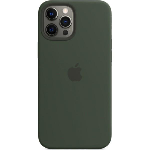 Чехол Silicone Case magsafe качество Lux для iPhone 12 Pro Max темно-зеленый