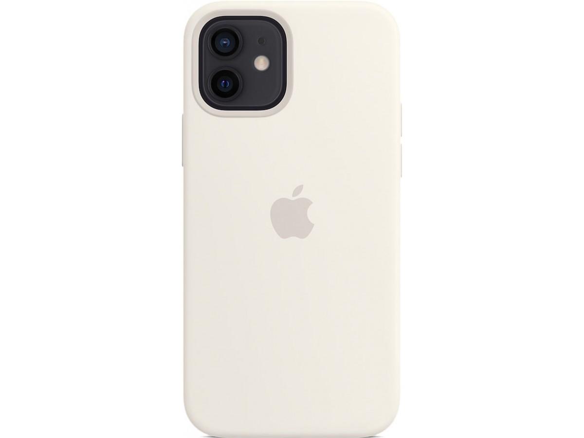 Чехол Silicone Case magsafe качество Lux для iPhone 12/12 Pro белый в Тюмени