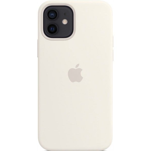 Чехол Silicone Case magsafe качество Lux для iPhone 12/12 Pro белый