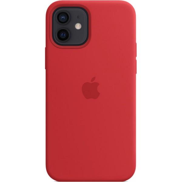 Чехол Silicone Case magsafe качество Lux для iPhone 12/12 Pro красный
