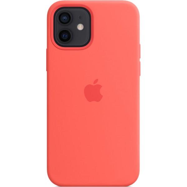 Чехол Silicone Case magsafe качество Lux для iPhone 12/12 Pro розовый цитрус