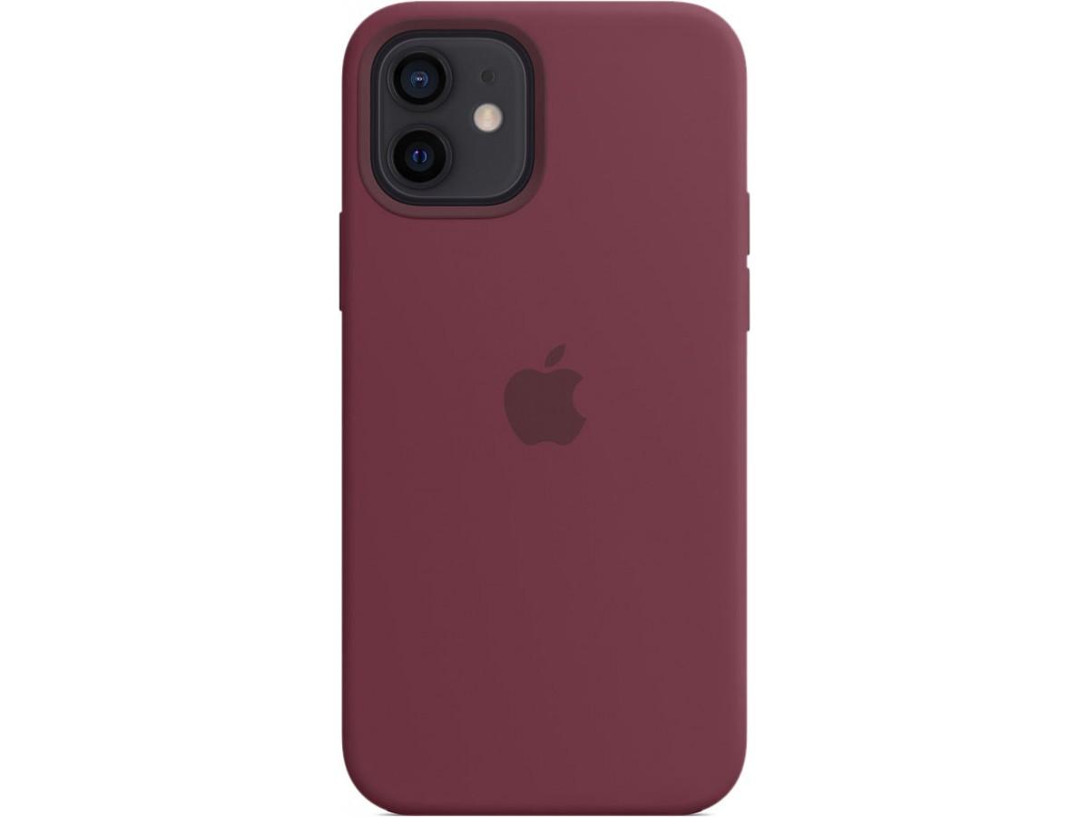 Чехол Silicone Case magsafe качество Lux для iPhone 12/12 Pro сливовый в Тюмени