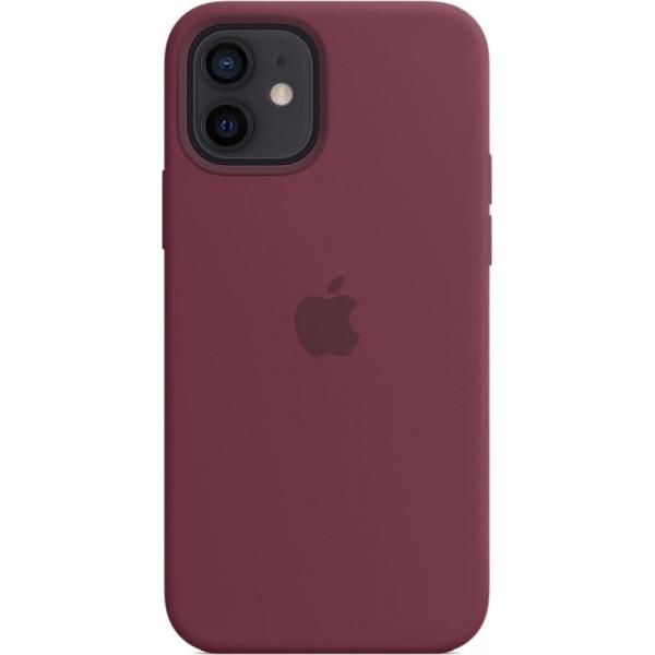 Чехол Silicone Case magsafe качество Lux для iPhone 12/12 Pro сливовый