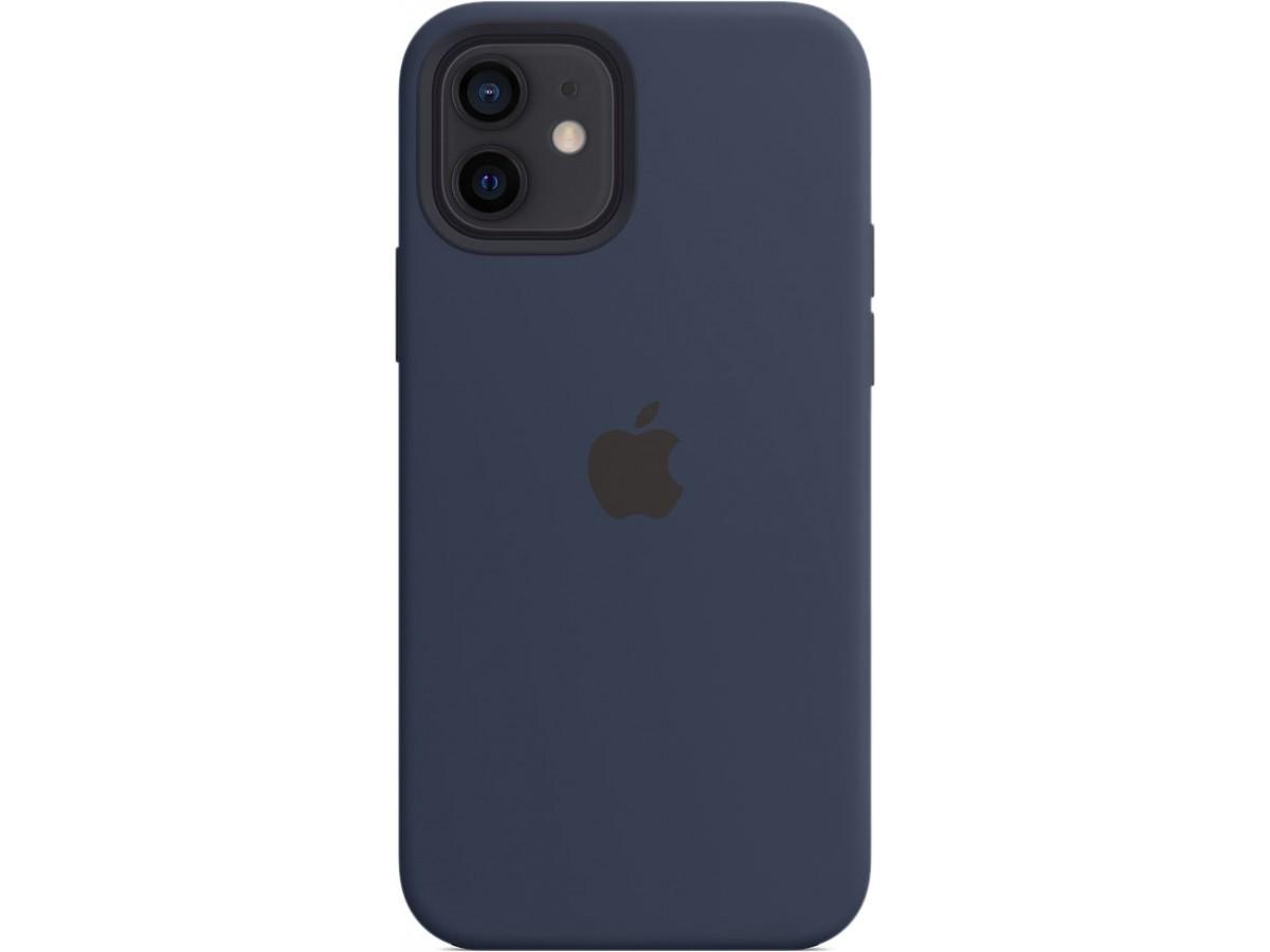 Чехол Silicone Case magsafe качество Lux для iPhone 12/12 Pro темно-синий в Тюмени
