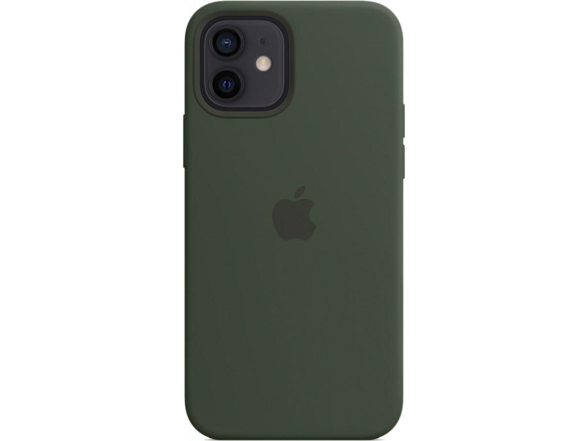 Чехол Silicone Case magsafe качество Lux для iPhone 12/12 Pro темно-зеленый в Тюмени