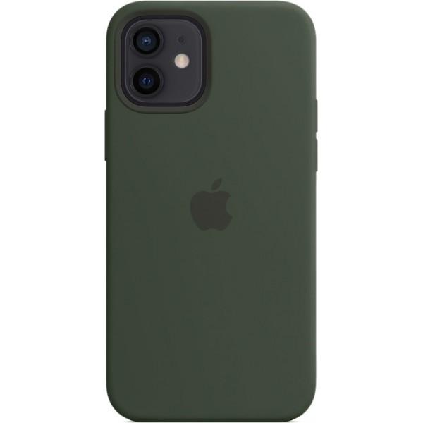 Чехол Silicone Case magsafe качество Lux для iPhone 12/12 Pro темно-зеленый
