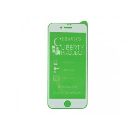 Стекло защитное iPhone 7/8 Plus белое/ (Ceramics)