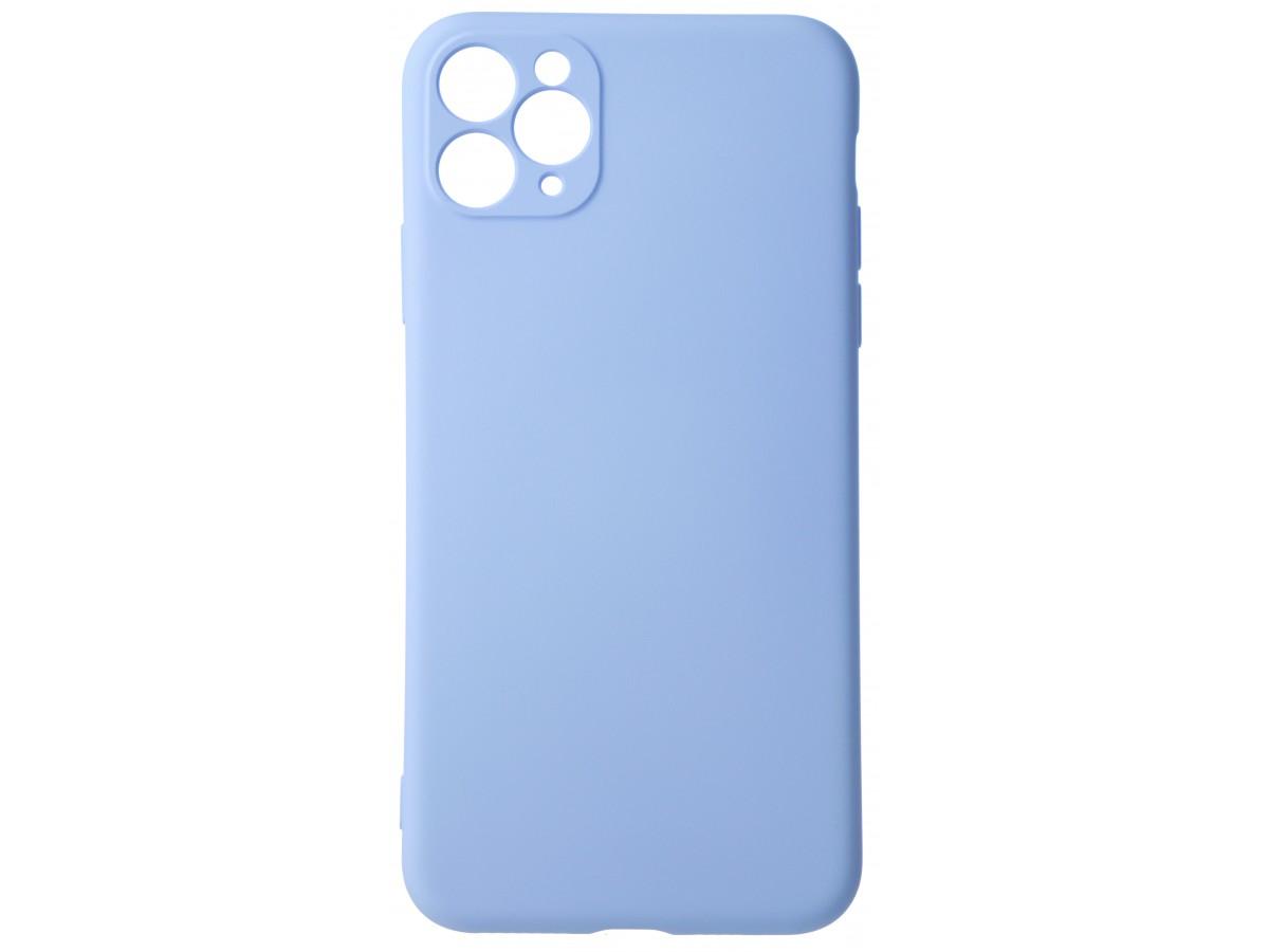 Чехол Soft-Touch для iPhone 11 Pro Max светло-голубой в Тюмени