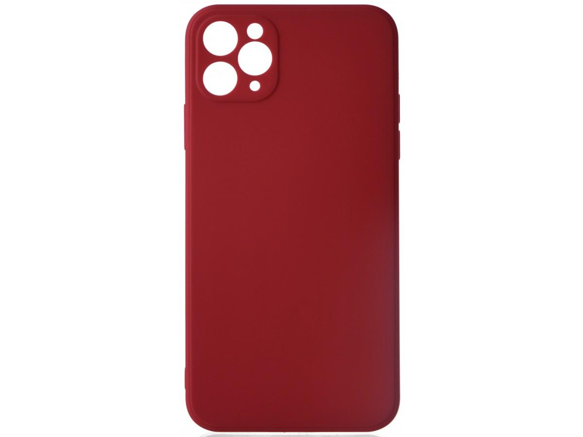 Чехол матовый Safe Camera для iPhone 11 Pro Max силиконовый малиновый в Тюмени