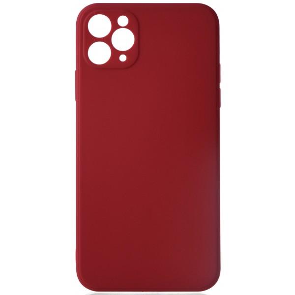 Чехол матовый Safe Camera для iPhone 11 Pro Max силиконовый малиновый