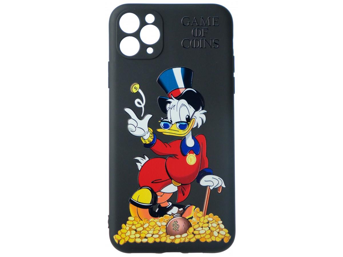 Чехол Fashn Donald Coins для iPhone 11 Pro Max с принтом силиконовый в Тюмени
