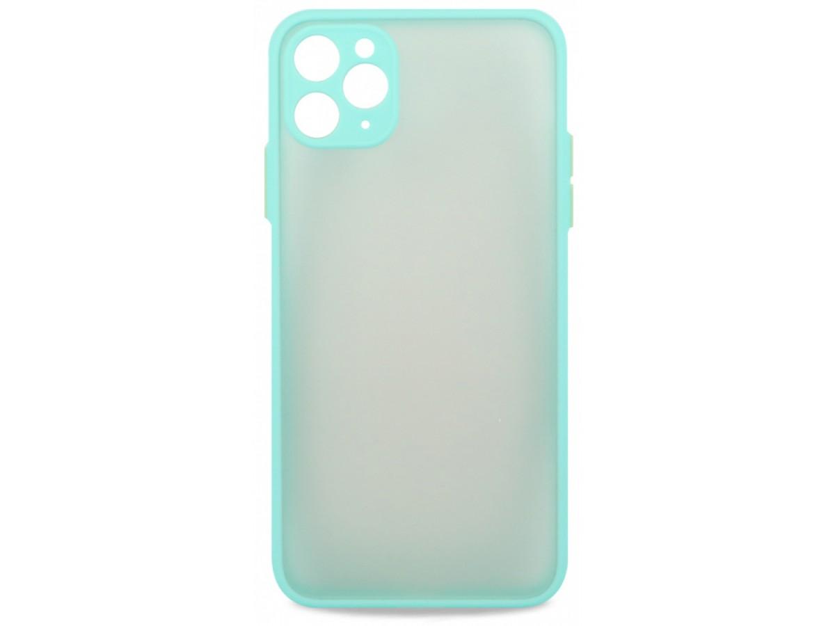 Чехол матовый с бампером Safe Camera для iPhone 11 Pro Max бирюзовый в Тюмени