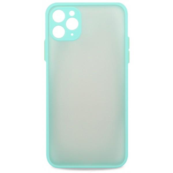 Чехол матовый с бампером Safe Camera для iPhone 11 Pro Max бирюзовый
