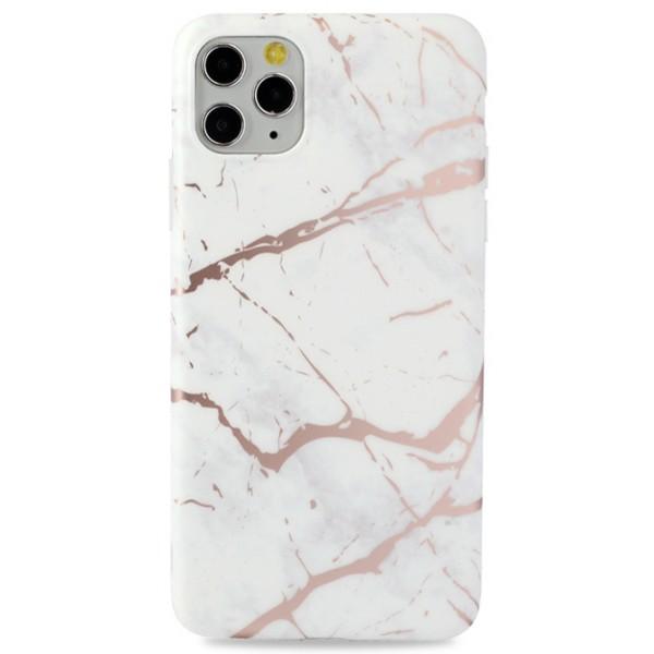 Чехол Golden мрамор для iPhone 11 Pro Max силиконовый белый