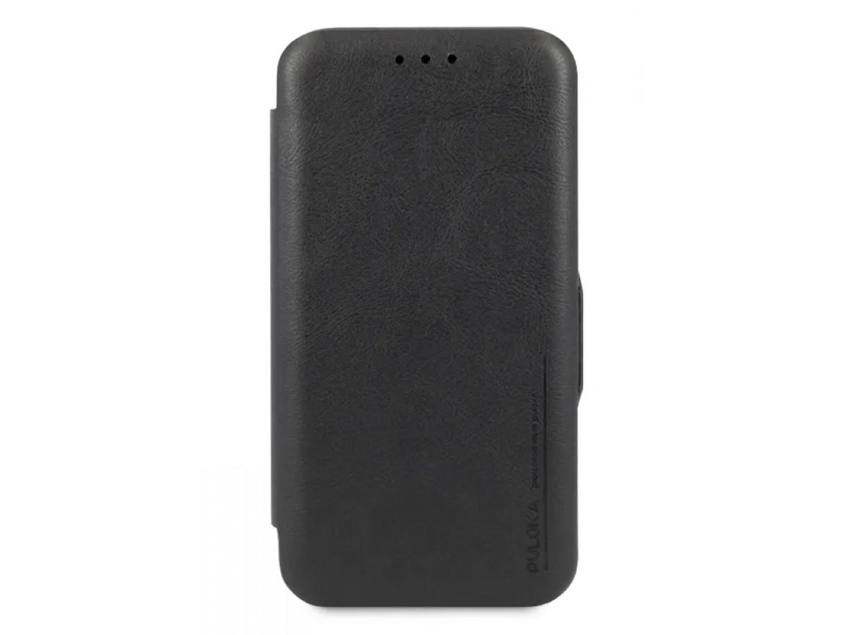 Чехол-книжка Puloka для iPhone 11 Pro Max на магните черная в Тюмени