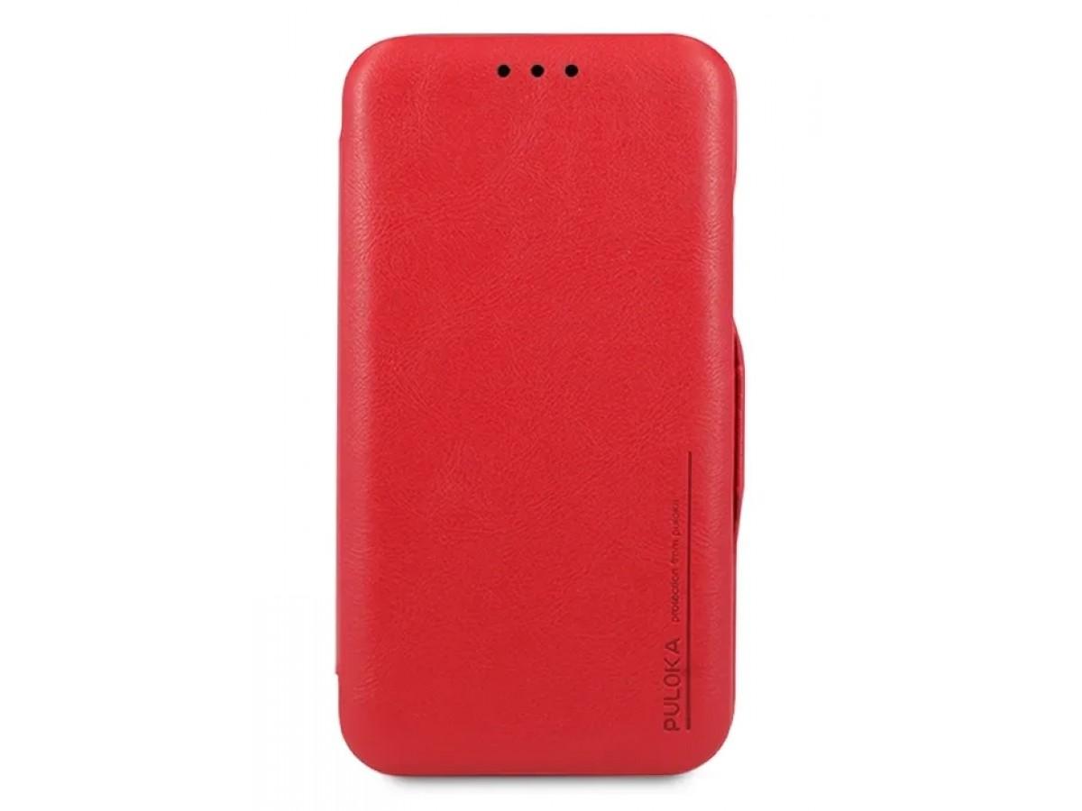 Чехол-книжка Puloka для iPhone 11 Pro Max на магните красная в Тюмени