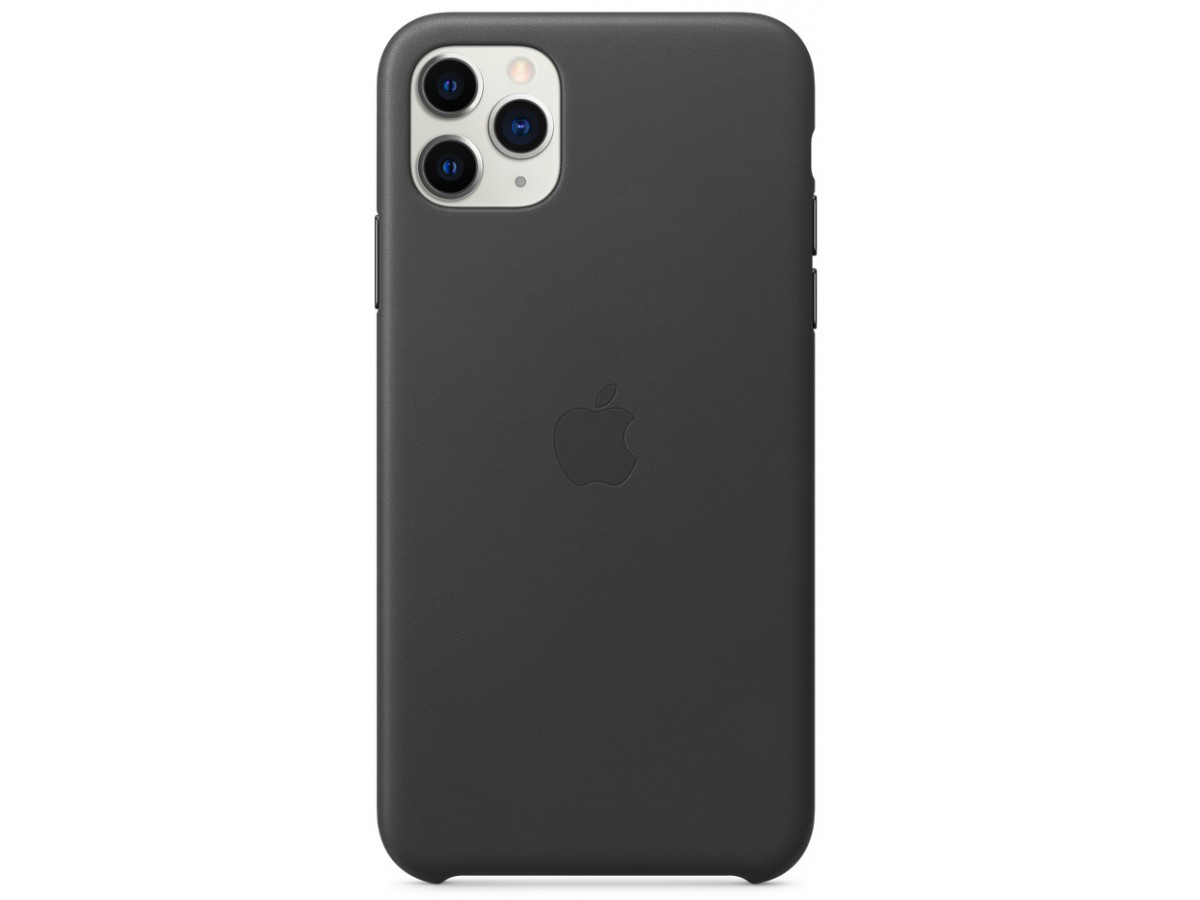 Чехол Leather Case для iPhone 11 Pro Max черный (оригинал) в Тюмени