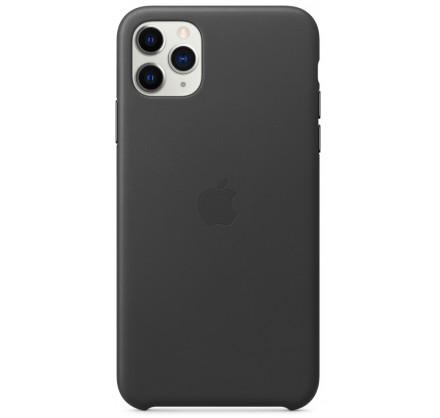 Чехол Leather Case для iPhone 11 Pro Max черный (оригин...