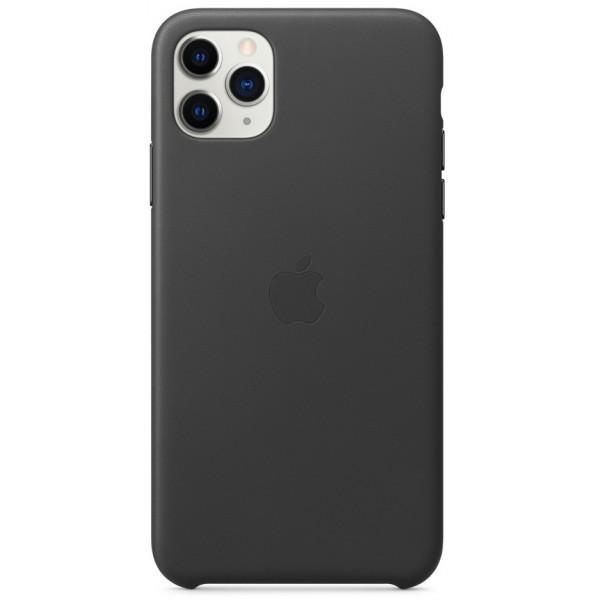Чехол Leather Case для iPhone 11 Pro Max черный (оригинал)