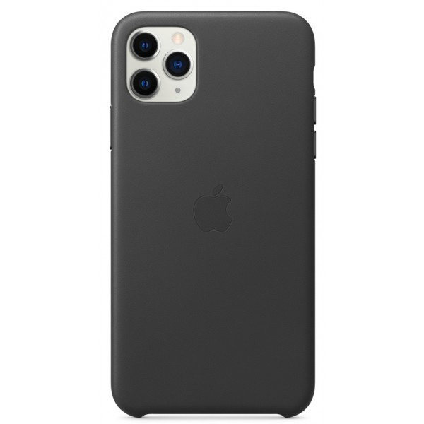 Чехол Leather Case для iPhone 11 Pro Max черный