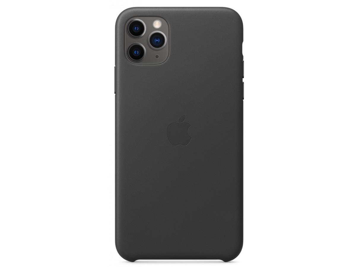 Чехол Leather Case для iPhone 11 Pro Max черный в Тюмени