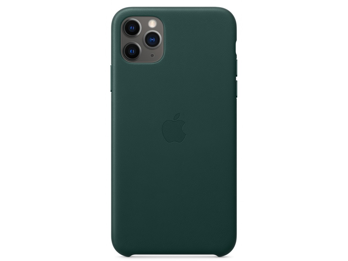 Чехол Leather Case для iPhone 11 Pro Max зеленый в Тюмени