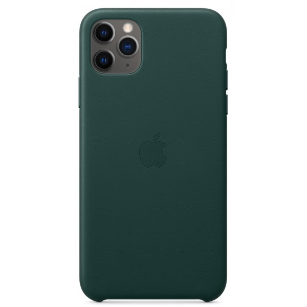 Чехол Leather Case для iPhone 11 Pro Max зеленый