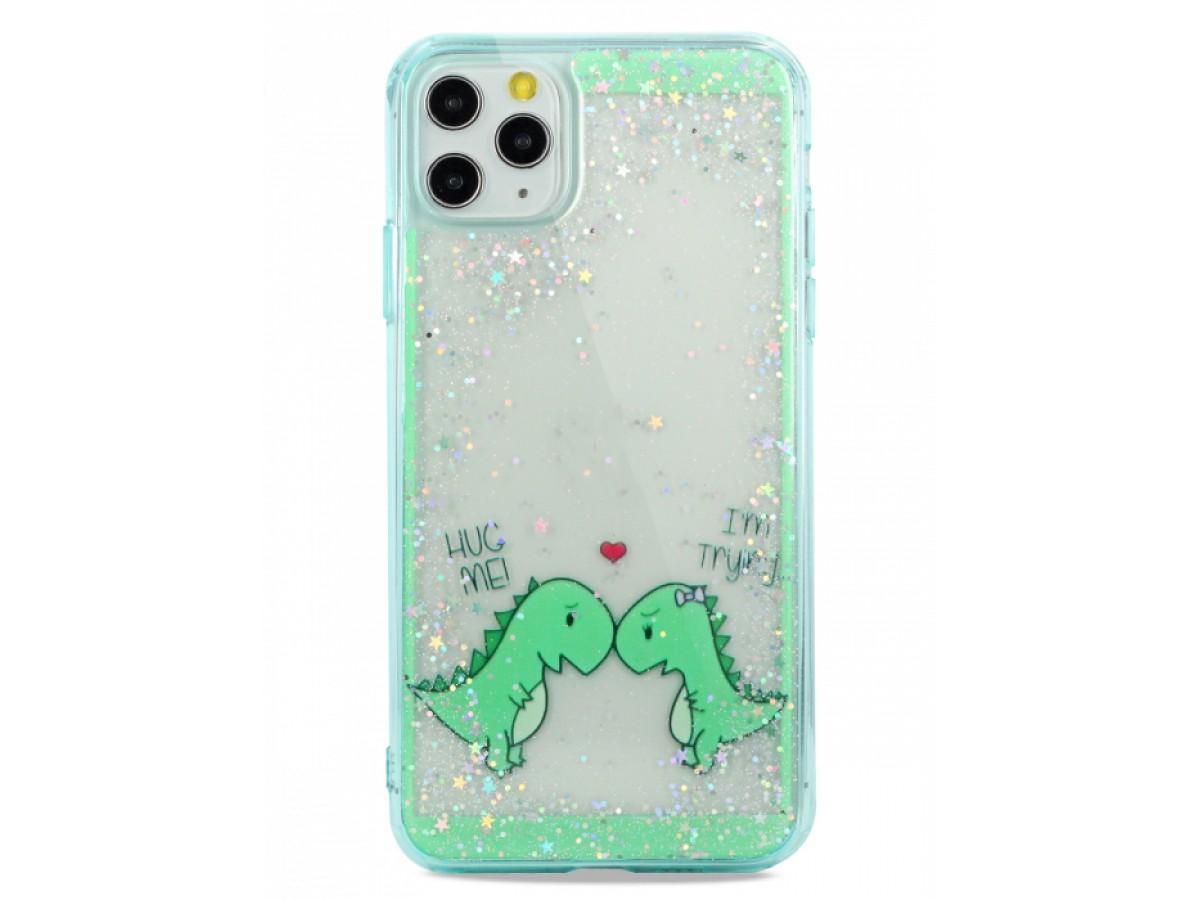 Чехол Love Dino для iPhone 11 Pro Max с принтом в Тюмени