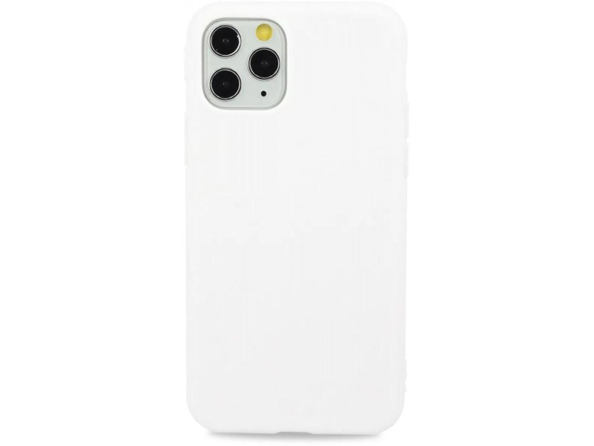 Чехол матовый однотонный для iPhone 11 Pro Max силиконовый белый в Тюмени