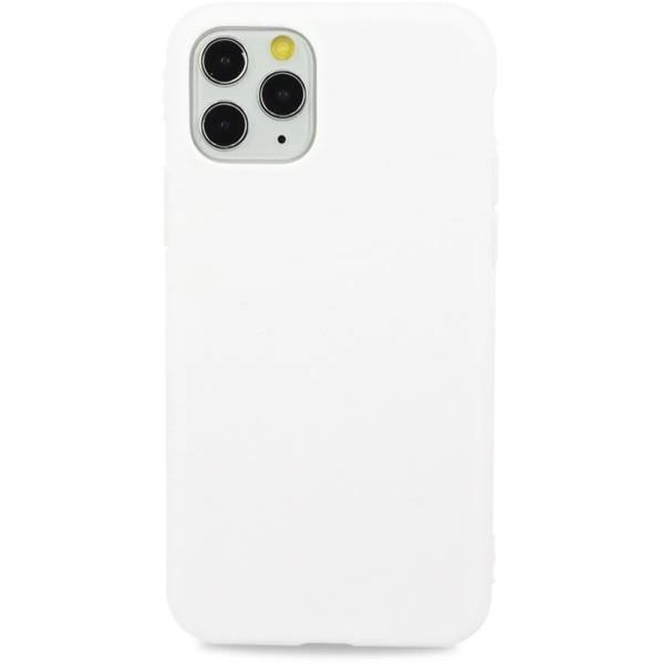 Чехол матовый однотонный для iPhone 11 Pro Max силиконовый белый