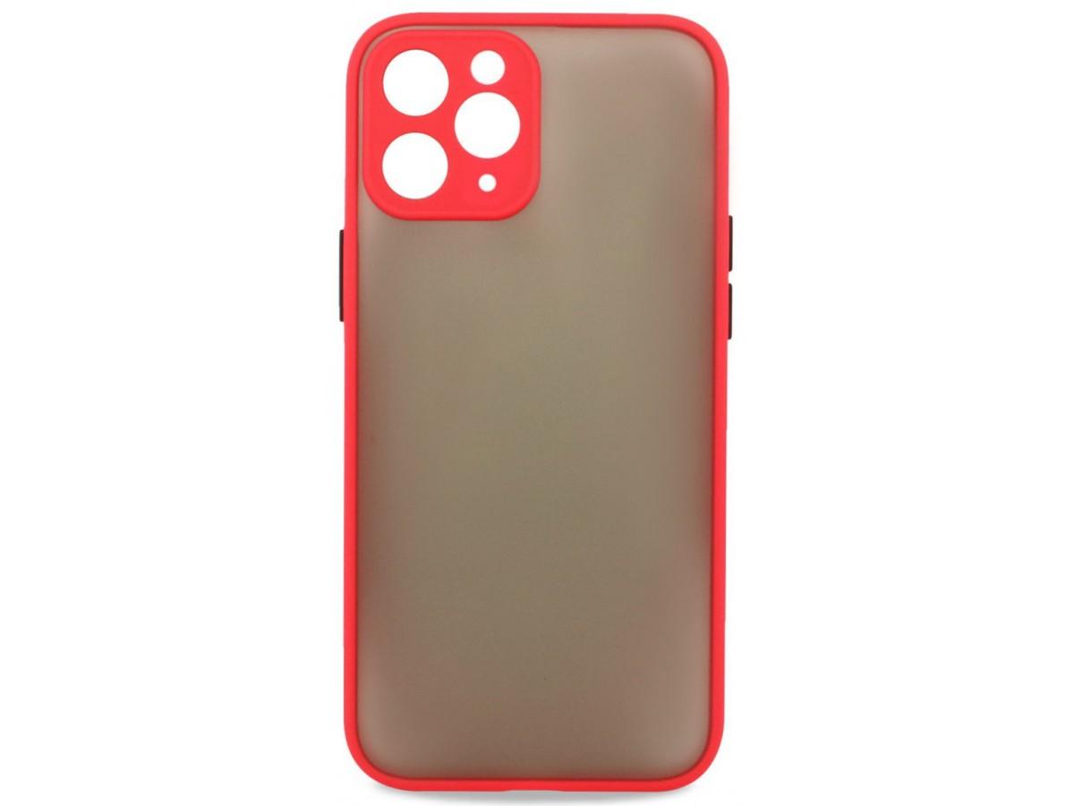 Чехол матовый с бампером Safe Camera для iPhone 11 Pro Max красный в Тюмени