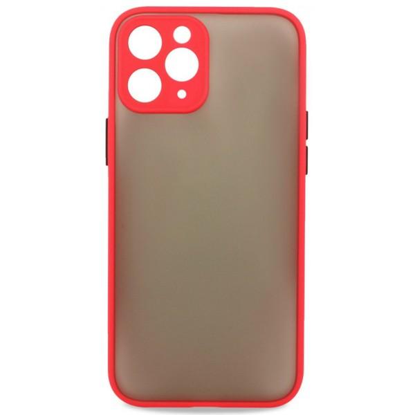 Чехол матовый с бампером Safe Camera для iPhone 11 Pro Max красный
