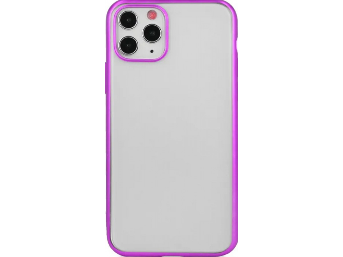 Чехол snazzy хром для iPhone 11 Pro Max матовый пурпурный в Тюмени
