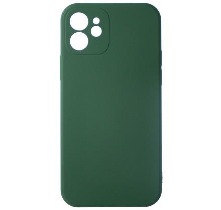 Чехол Soft-Touch для iPhone 12 темно-зеленый