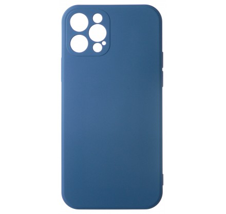 Чехол Soft-Touch для iPhone 12 Pro темно-синий