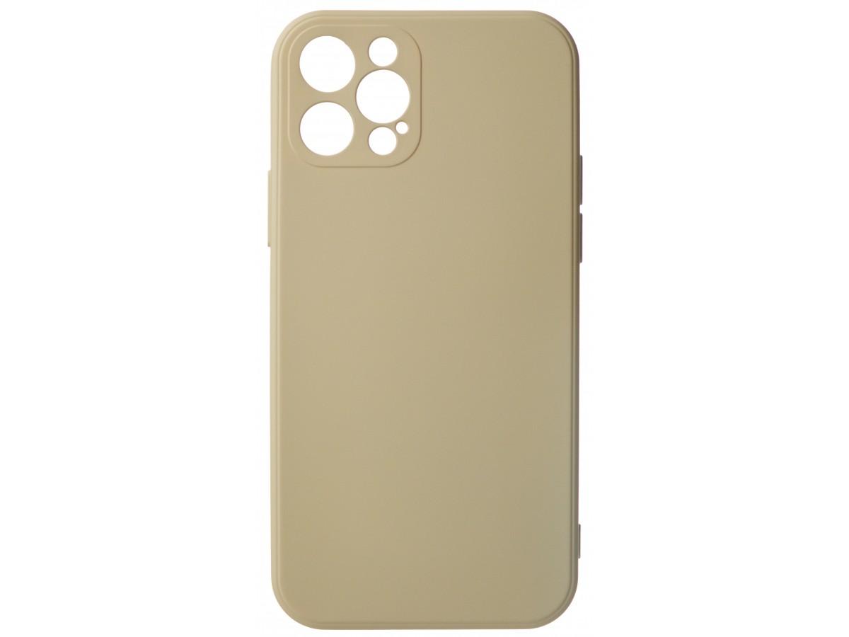 Чехол Soft-Touch для iPhone 12 Pro бежево-розовый в Тюмени